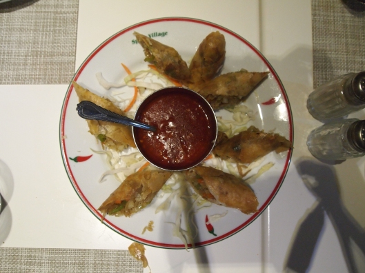 spring rolls at Spicy Village