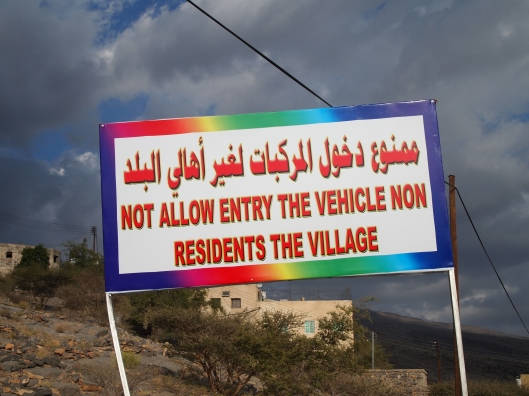 I don't know who translated this sign into English, but it's a mess!